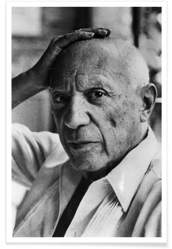 Black & White, Pablo Picasso Vintage Photograph Poster