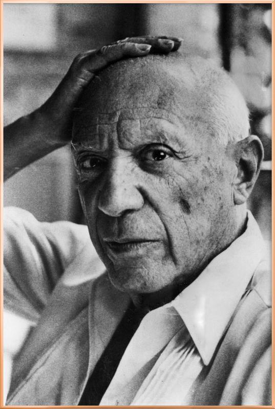 Pablo Picasso Poster in Aluminium Frame