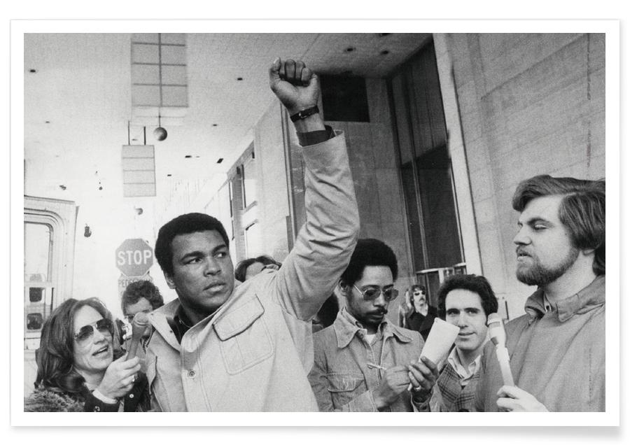 Sort & hvidt, Muhammad Ali, Muhammad Ali raises his Fist Plakat