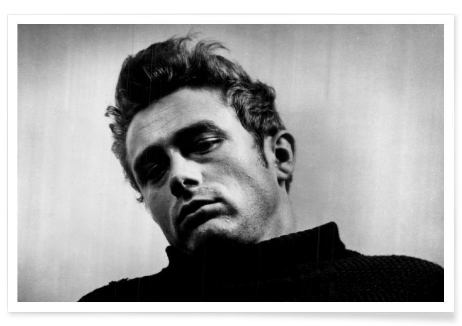 James Dean, Noir & blanc, James Dean, 1955 - Photographie vintage affiche