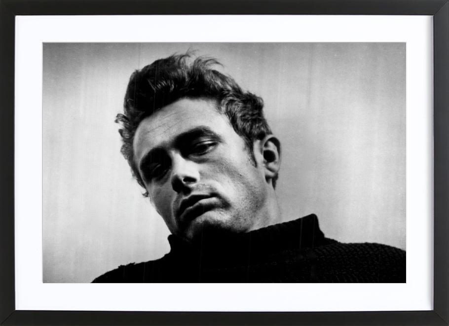 James Dean, 1955 affiche sous cadre en bois