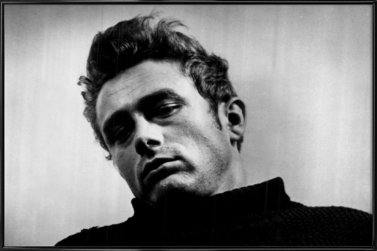 James Dean, 1955 affiche encadrée
