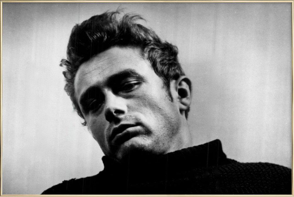 James Dean, 1955 Poster in Aluminium Frame