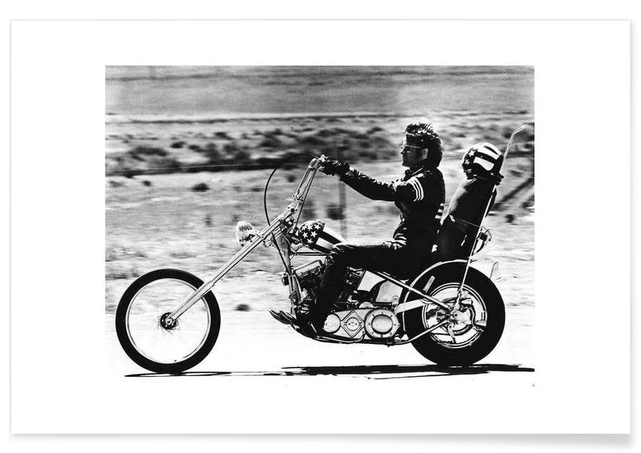 Noir & blanc, Vintage, Films, Peter Fonda Easy Rider 1969 - Photographie affiche