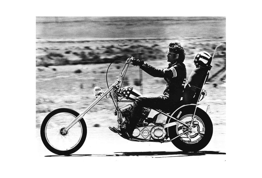 "Peter Fonda ""Easy Rider"" 1969 acrylglas print"