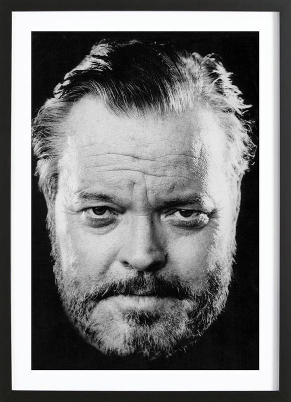 Orson Welles affiche sous cadre en bois