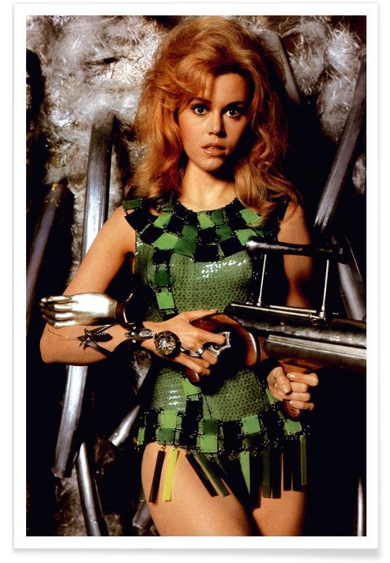 , Foto van Jane Fonda als Barbarella poster