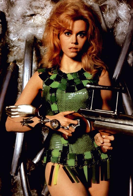 Jane Fonda as 'Barbarella' Impression sur alu-Dibond
