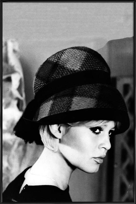 Brigitte Bardot with Hat Framed Poster