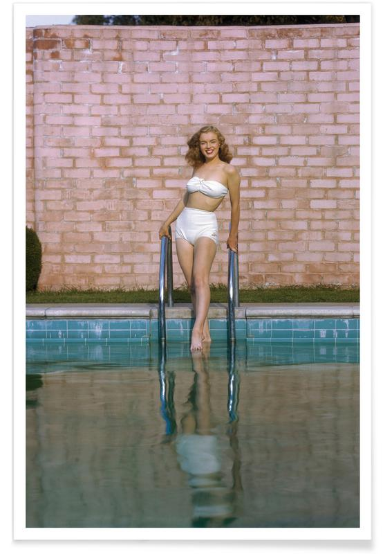 Young Marilyn Monroe Poolside I -Poster