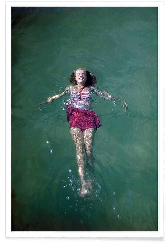 Marilyn Monroe, Young Marilyn Monroe in the Sea -Poster