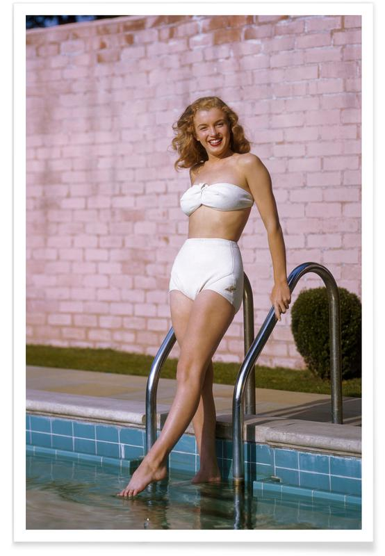Young Marilyn Monroe Poolside II -Poster