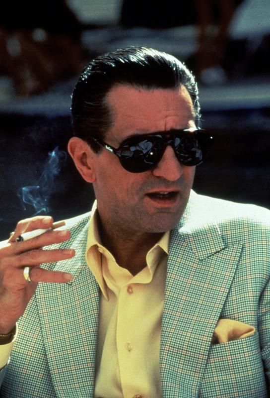Robert De Niro in 'Casino', 1995 tableau en verre
