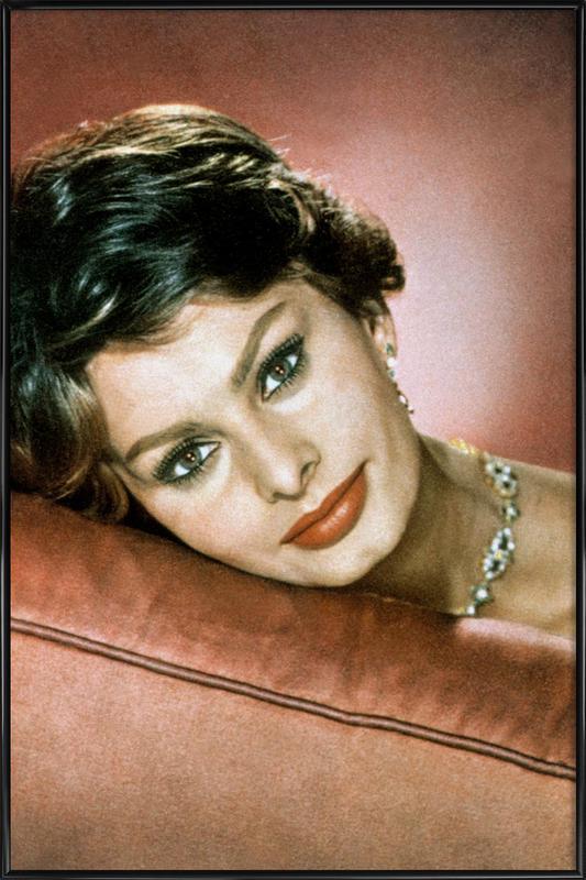 Sophia Loren in the Sixties affiche encadrée
