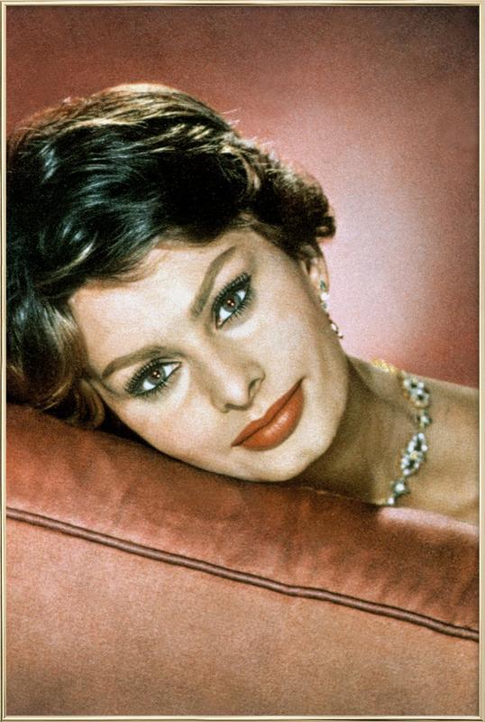 Sophia Loren in the Sixties affiche sous cadre en aluminium