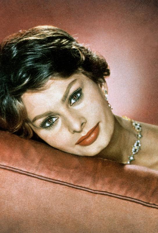 Sophia Loren in the Sixties Aluminium Print
