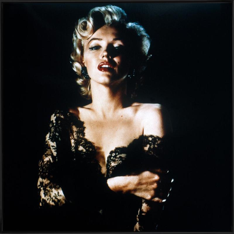 Marilyn Monroe wearing Black Lace affiche encadrée