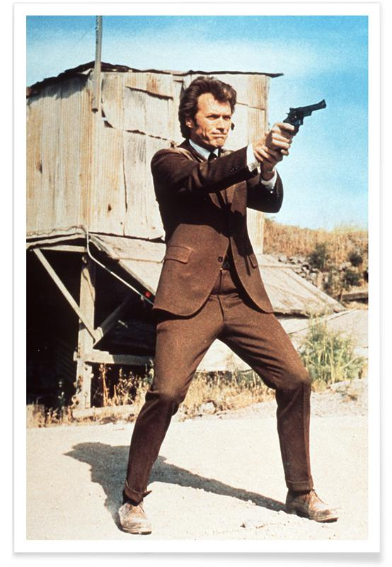 Foto van Clint Eastwood in Dirty Harry poster