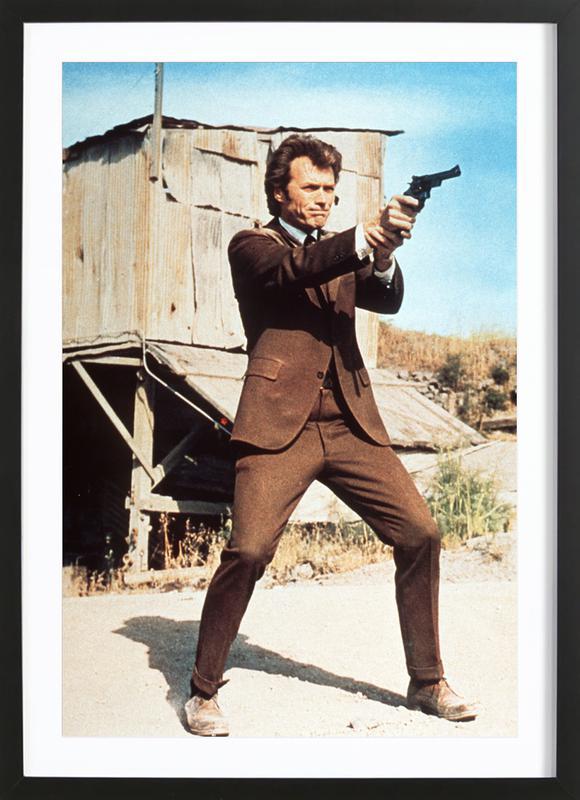 Clint Eastwood in 'Dirty Harry' ingelijste print
