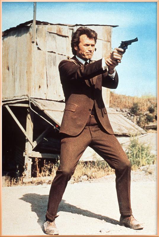 Clint Eastwood in 'Dirty Harry' affiche sous cadre en aluminium