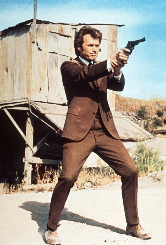 Clint Eastwood in 'Dirty Harry' Aluminium Print