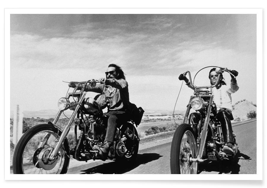 Dennis Hopper & Peter Fonda, 'Easy Rider' affiche