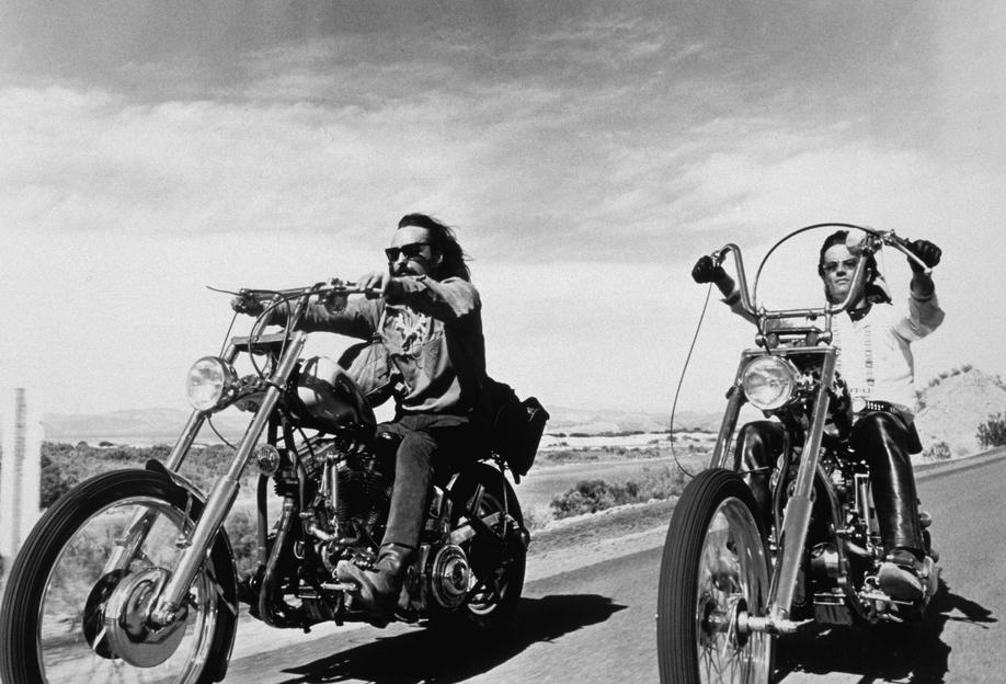 Dennis Hopper & Peter Fonda, 'Easy Rider' Impression sur alu-Dibond