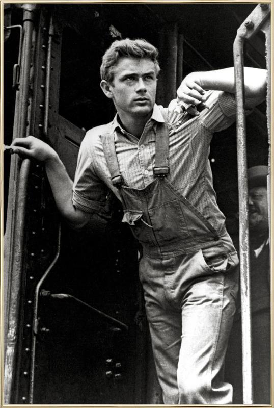 James Dean, 'East of Eden' Poster in Aluminium Frame