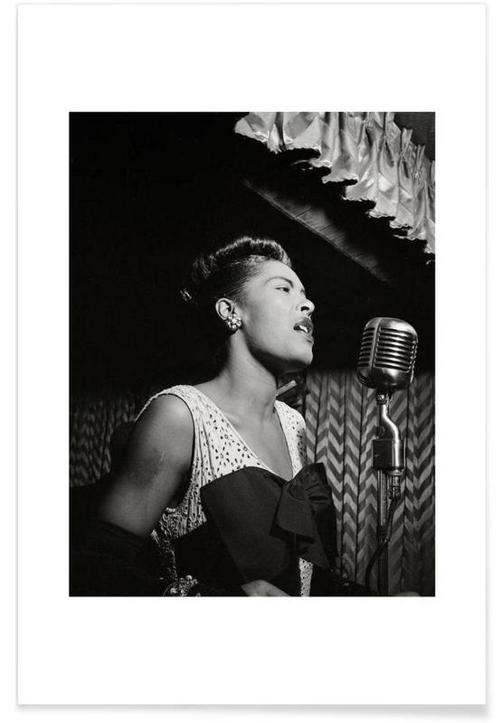 Billie Holiday, New York 1946-Vintage-Fotografie -Poster