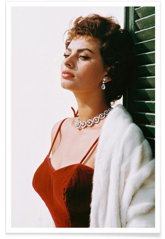 Films, Sophia Loren in Red affiche