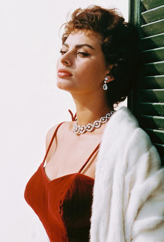 Sophia Loren in Red Acrylic Print