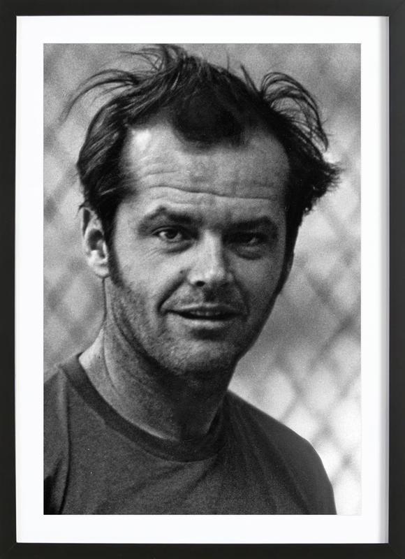 Jack Nicholson in 'One Flew Over the Cuckoo's Nest' -Bild mit Holzrahmen