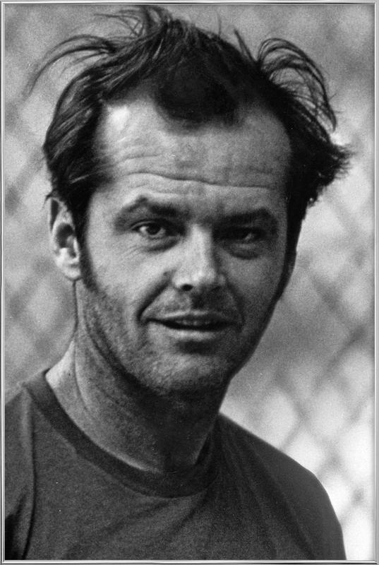 Jack Nicholson in 'One Flew Over the Cuckoo's Nest' Poster in Aluminium Frame