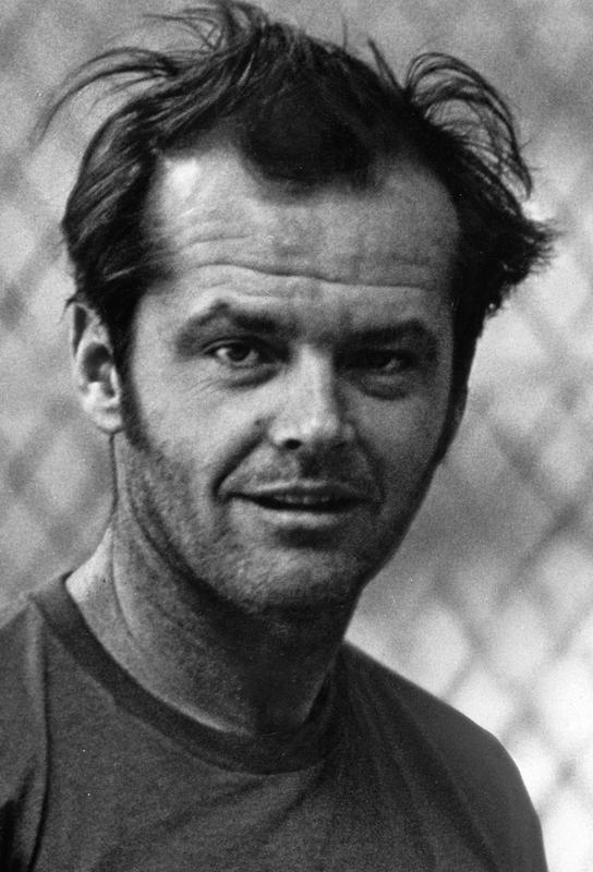 Jack Nicholson in 'One Flew Over the Cuckoo's Nest' tableau en verre