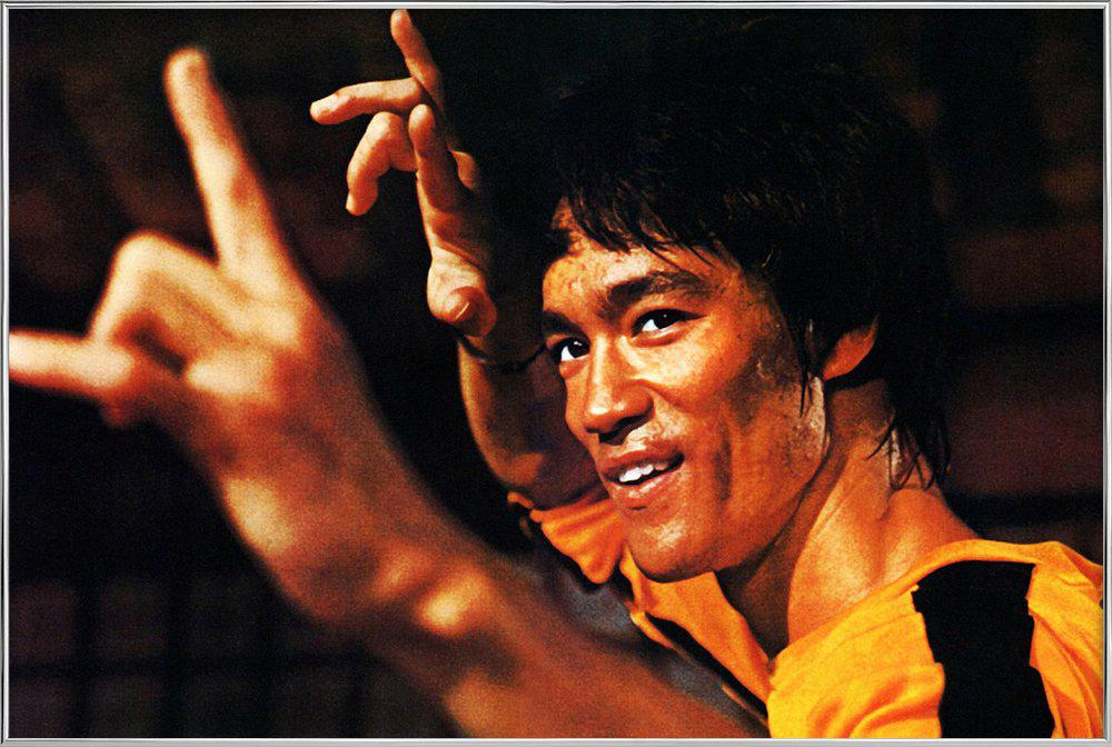 Bruce Lee in 'Game of Death' Poster in Aluminium Frame