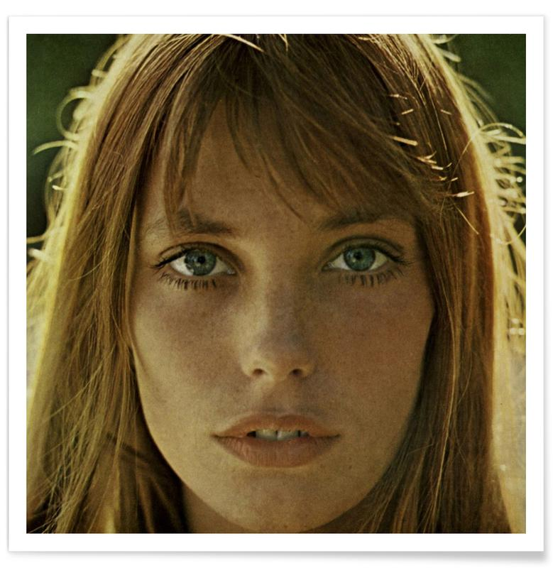 Portretten, Vintage foto van Jane Birkin poster