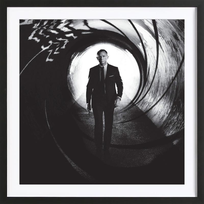 Daniel Craig in 'Skyfall' -Bild mit Holzrahmen