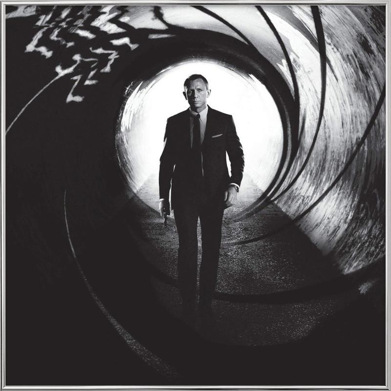 Daniel Craig in 'Skyfall' affiche sous cadre en aluminium