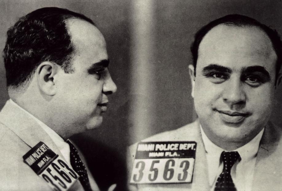 Al Capone's Mugshot Aluminium Print