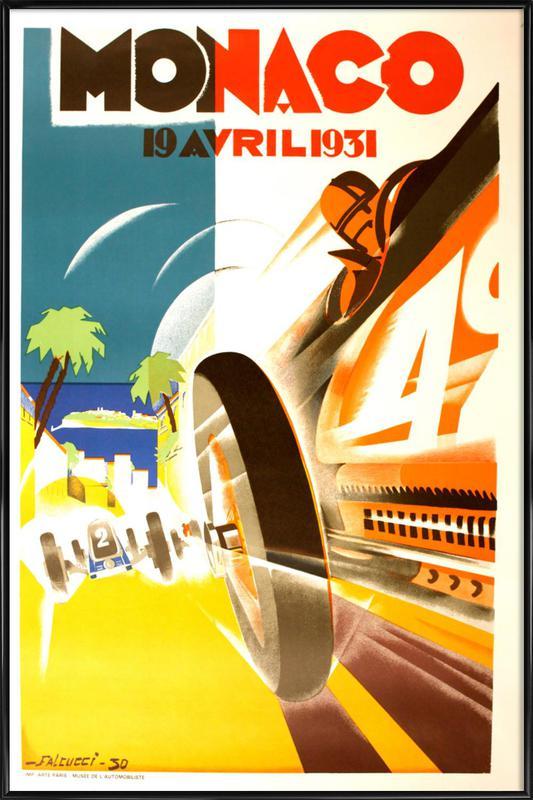 Vintage Monaco 19 April 1931 Framed Poster