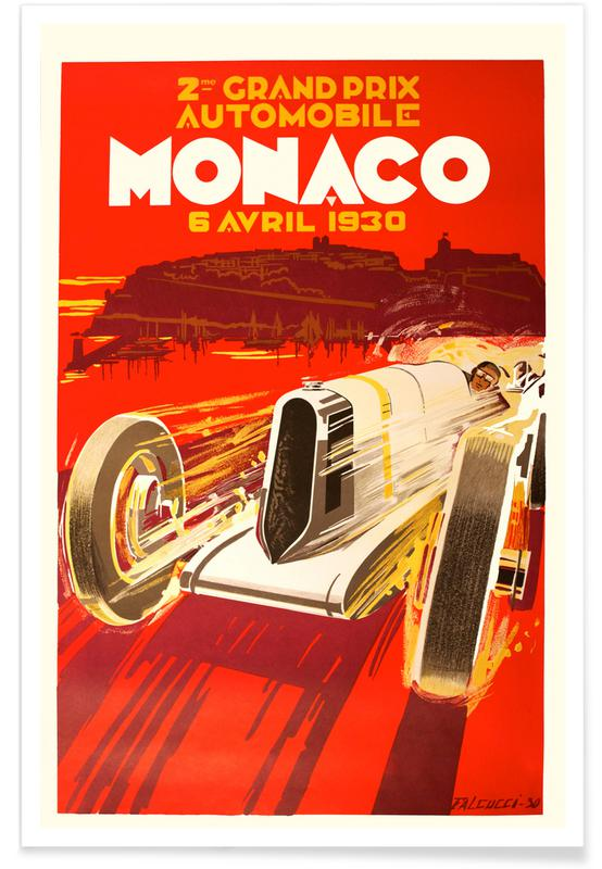 Vintage Reise, Vintage Monaco 6 April 1930 -Poster