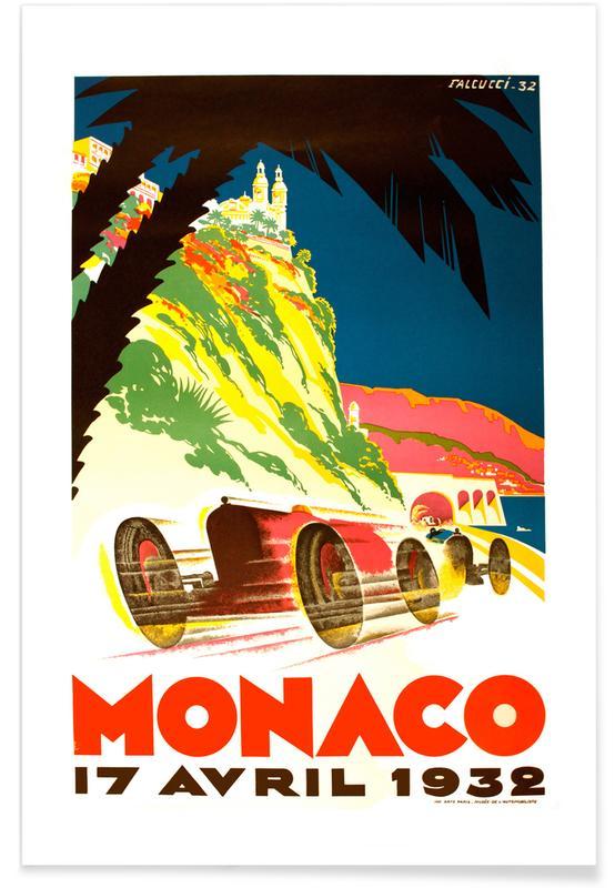 Vintage voyage, Vintage Monaco 17 April 1932 affiche