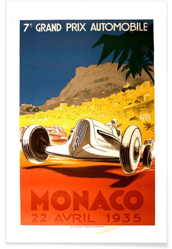 Vintage voyage, Vintage Monaco 22 April 1935 affiche