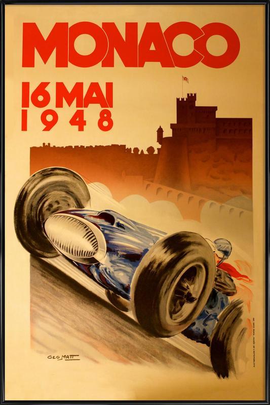 Vintage Monaco 16 May 1948 Framed Poster