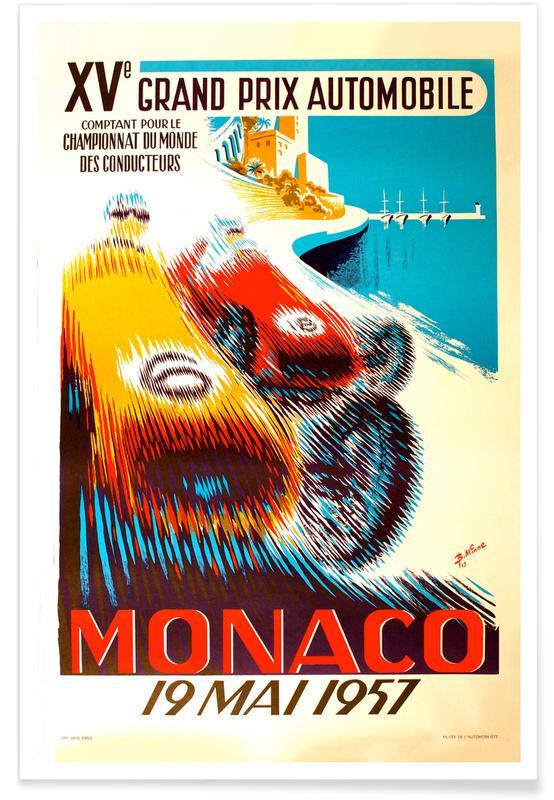 Vintage voyage, Vintage Monaco 19 May 1957 affiche