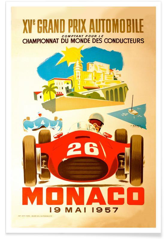 Vintage reis, Vintage Monaco 19 May 1957 2 poster