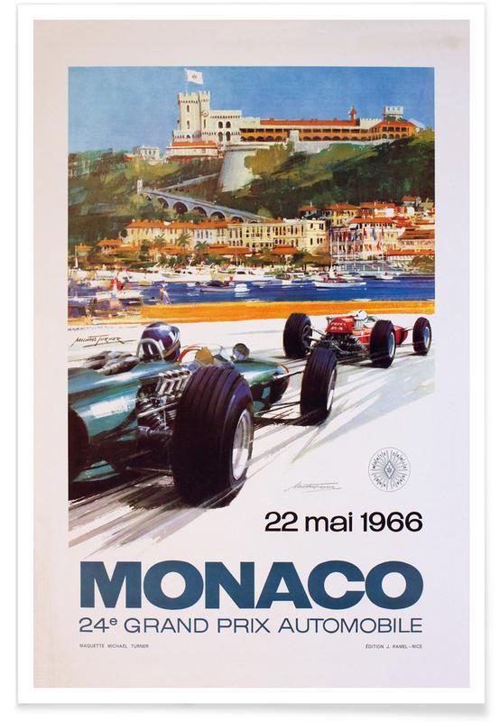 Vintage voyage, Vintage Monaco 22 May 1966 affiche