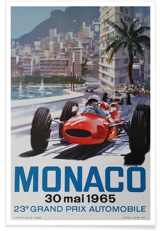 Vintage rejser, Monaco 1965 Plakat