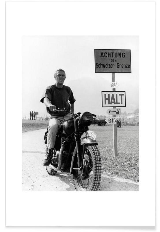 Steve McQueen La grande évasion 1963 - Photographie affiche