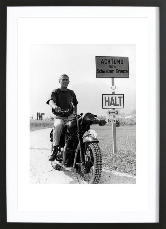 "Steve McQueen ""The Great Escape"" 1963  Framed Print"
